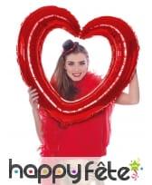 Cadre coeur à gonfler, pour photo, image 1