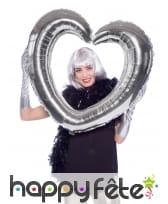 Cadre coeur à gonfler, pour photo, image 2