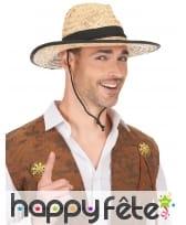 Chapeau Cowboy avec contour et ruban noir, image 1