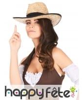 Chapeau Cowboy avec contour et ruban noir, image 2