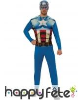 Combinaison Captain America classique pour homme