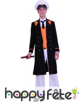 Costume Capitaine BD noir orange