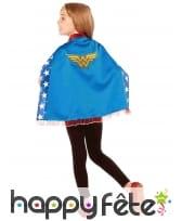 Cape courte de Wonder woman pour petite fille