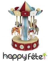 Carrousel centre de table vintage thème Cirque