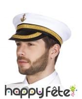 Casquette capitaine de marine en tissu