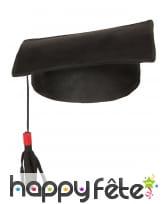 Chapeau coiffe de lauréat noire, image 1