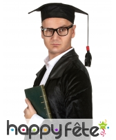 Chapeau coiffe de lauréat noire, image 2