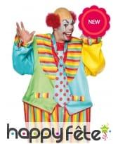 Combinaison colorée de clown pour homme, image 2