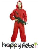 Costume casa de papel avec masque, coffret, adulte, image 1