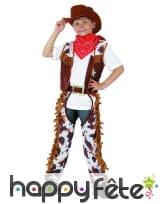 Costume chaps de cowboy vachette enfant