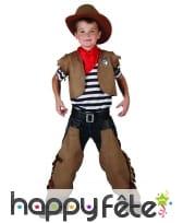 Costume classique de petit cow-boy marron, image 1