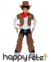Costume classique de petit cow-boy marron