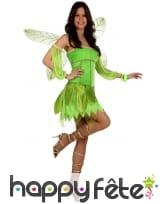 Costume court de fée verte pour femme, image 1
