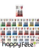 Crayons cosmétiques drapeau de pays 3,5g