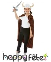 Cape, casque et épée de Viking pour enfant, image 1