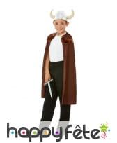 Cape, casque et épée de Viking pour enfant