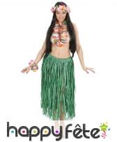 Collier, couronne et bracelet hawaïen