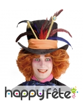 Chapeau chapelier fou à plumes