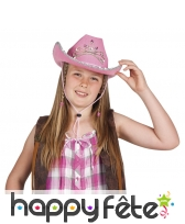 Chapeau cow girly rose, image 1