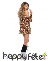 Costume court hippie fleurie colorée, image 1