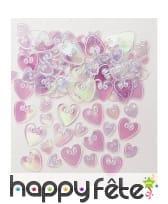 Confettis coeurs iridescents, 14g, image 1