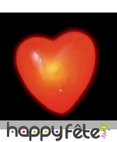 Coeur clignotant lumineux sur broche