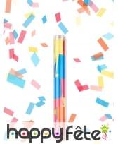 Canon confettis multicolores en forme de rectangle, image 1