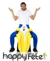 Costume Carry Me à dos de banane pour adulte