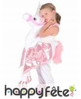 Costume carry me à dos de licorne pour enfant