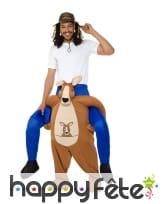 Costume carry me de kangourou pour adulte