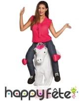 Costume Carry Me de licorne pour adulte