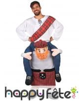 Costume Carry Me Écossais pour adulte, image 1