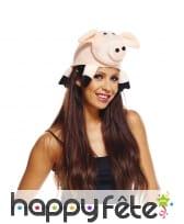 Chapeau cochon pour adulte