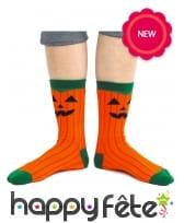 Chaussettes citrouille pour Halloween, image 1