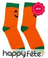 Chaussettes citrouille pour Halloween