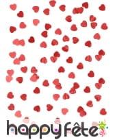 Confettis coeurs rouge métal