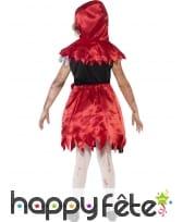 Costume chaperon rouge zombie pour enfant, image 1