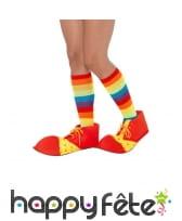 Couvres chaussures rouges et jaunes de clown