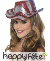 Chapeau cowboy tricolore