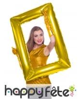 Cadre doré à gonfler, pour photo
