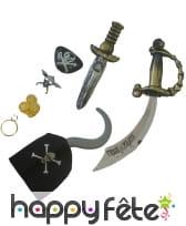 Carte d'accessoires de pirate, image 1