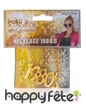 Collier doré avec pendentif 1980, image 1