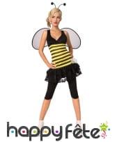 Costume d'abeille pour femme adulte avec ailes