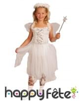Costume d'ange blanc avec corset pour fillette