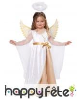 Costume d'ange blanc et doré pour fille