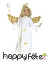 Costume d'ange blanc étoiles dorées pour enfant