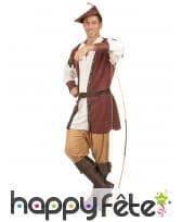 Costume d'archer médiéval pour homme, marron, image 1