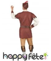 Costume d'archer médiéval pour homme, marron, image 2