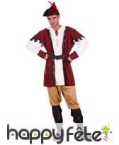 Costume d'archer médiéval pour homme, marron, image 3