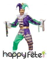 Costume d'arlequin fou du roi pour homme